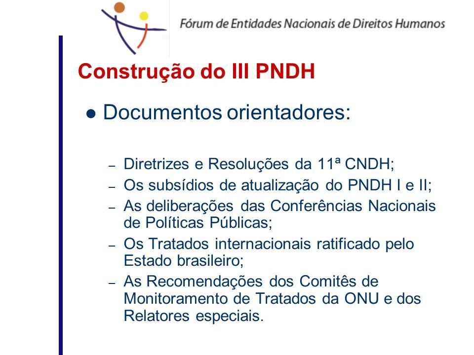 Documentos orientadores: