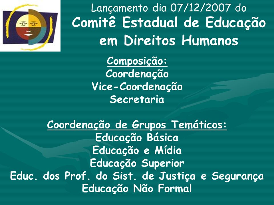 Comitê Estadual de Educação em Direitos Humanos