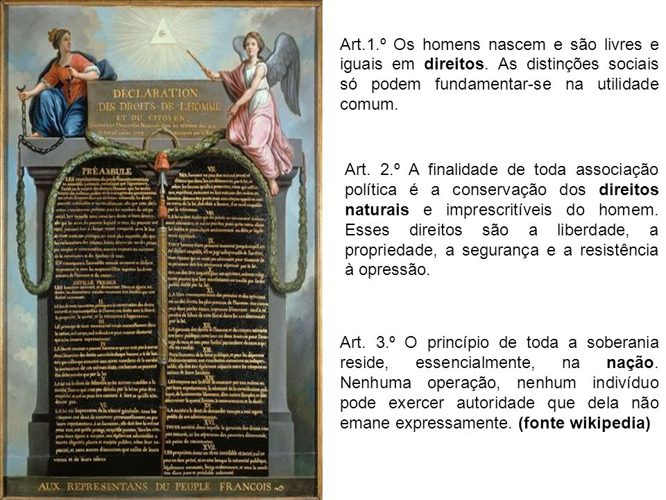 Art. 1. º Os homens nascem e são livres e iguais em direitos