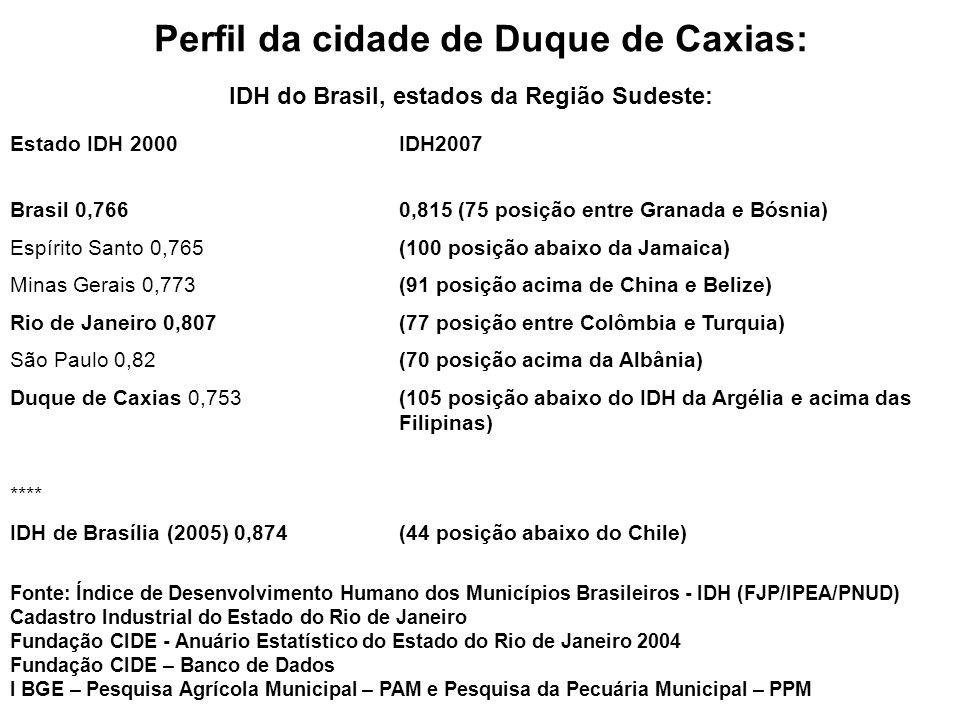 Perfil da cidade de Duque de Caxias: