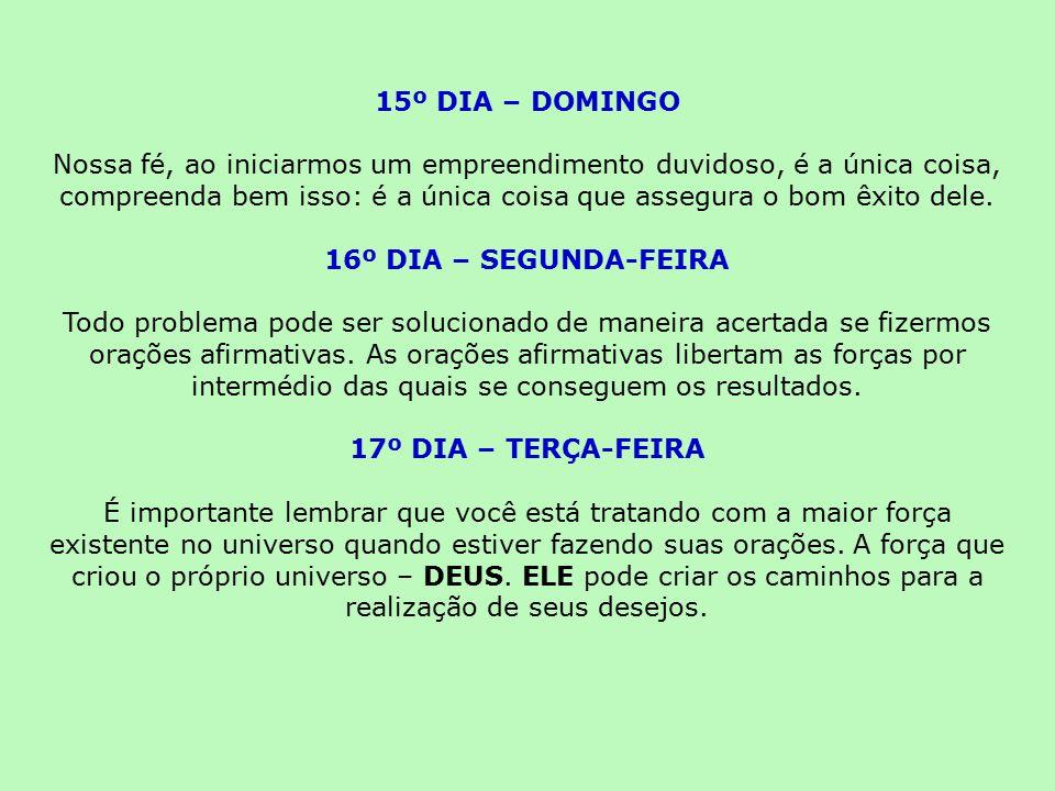 15º DIA – DOMINGO