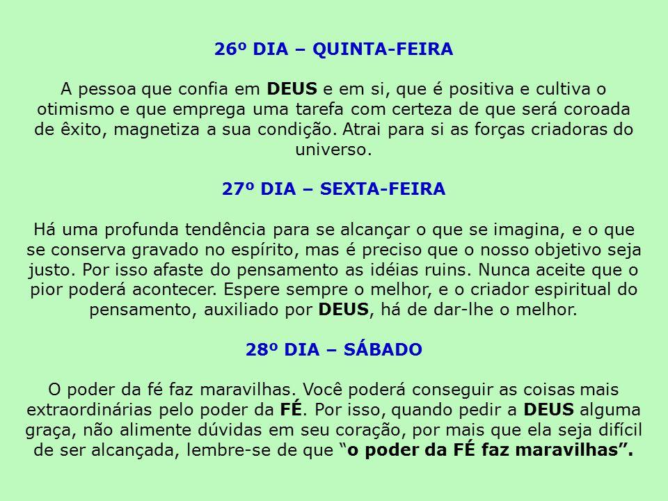 26º DIA – QUINTA-FEIRA
