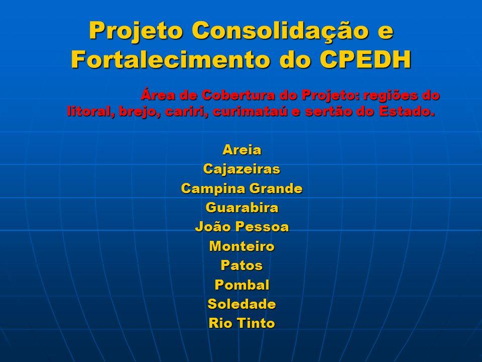 Projeto Consolidação e Fortalecimento do CPEDH