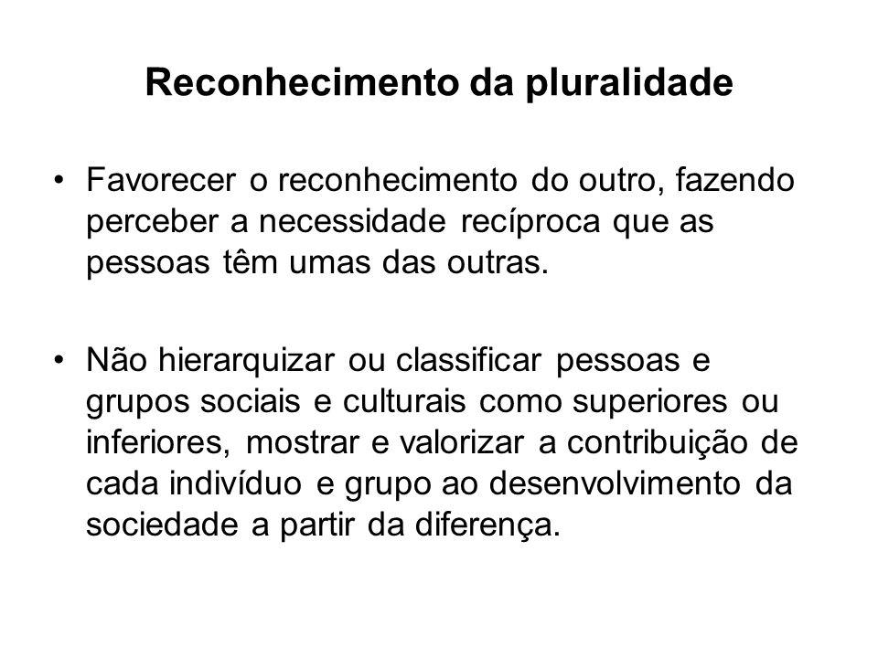 Reconhecimento da pluralidade
