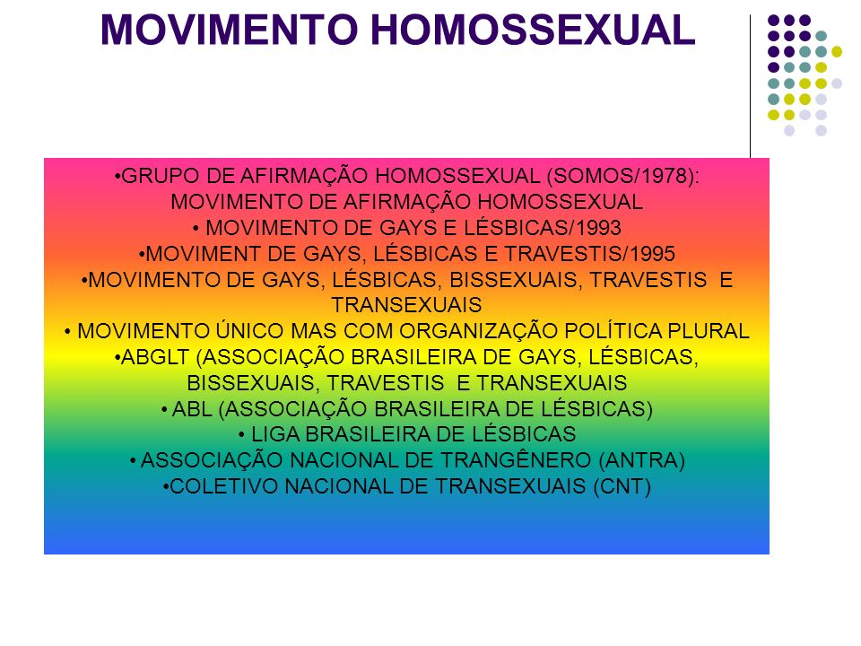 MOVIMENTO HOMOSSEXUAL