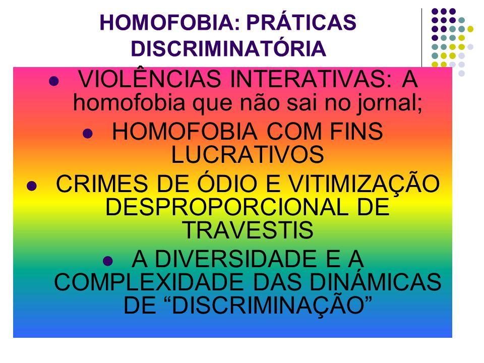 HOMOFOBIA: PRÁTICAS DISCRIMINATÓRIA
