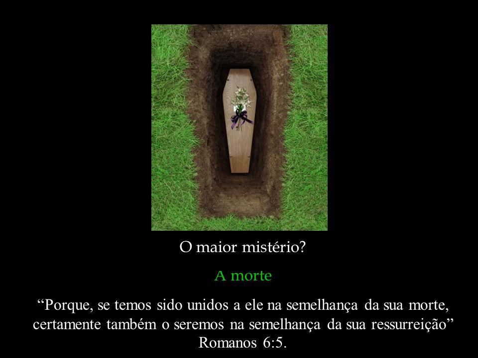 O maior mistério A morte.