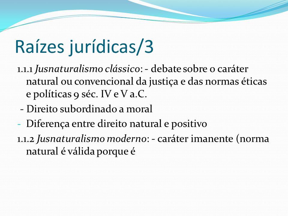 Raízes jurídicas/3