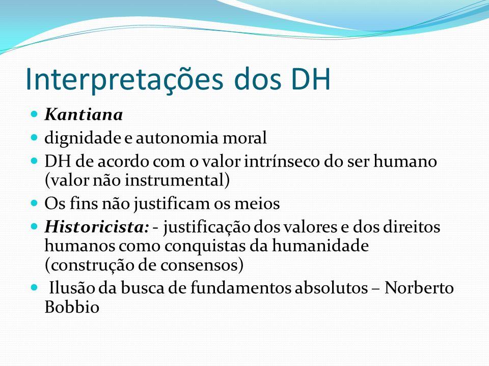 Interpretações dos DH Kantiana dignidade e autonomia moral