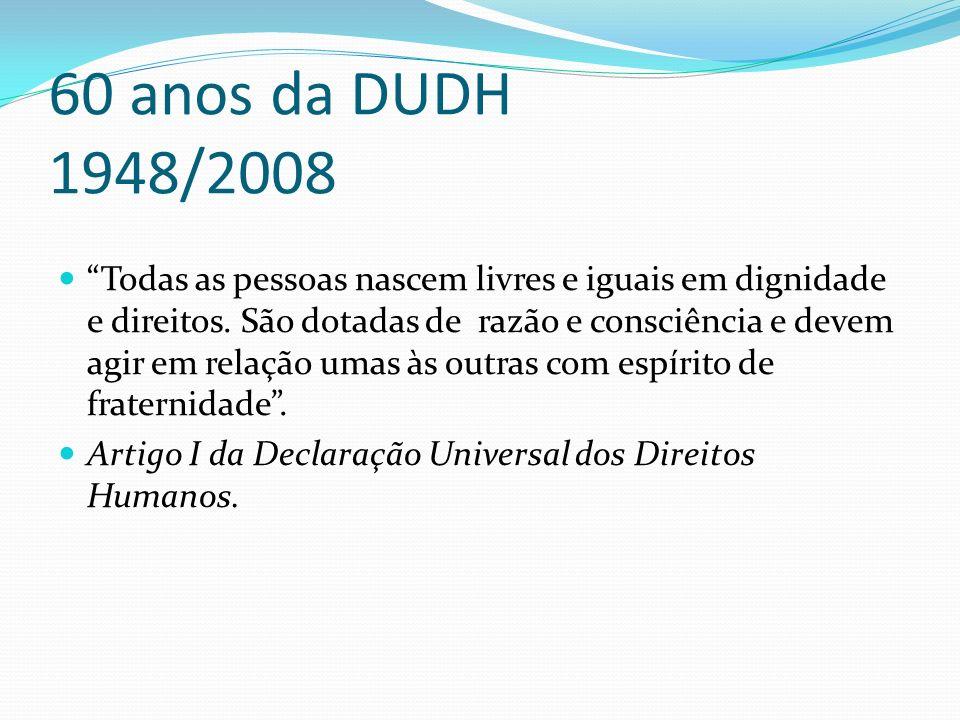 60 anos da DUDH 1948/2008