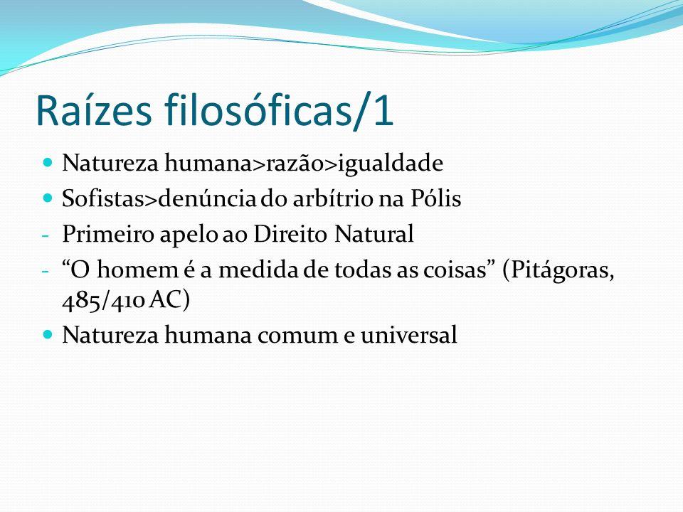 Raízes filosóficas/1 Natureza humana>razão>igualdade