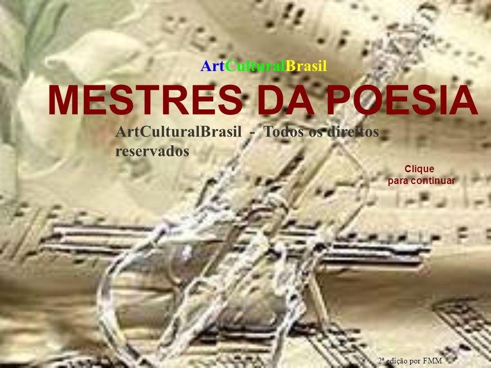 MESTRES DA POESIA ArtCulturalBrasil