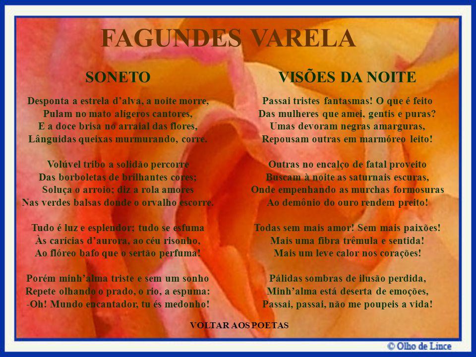 FAGUNDES VARELA SONETO VISÕES DA NOITE