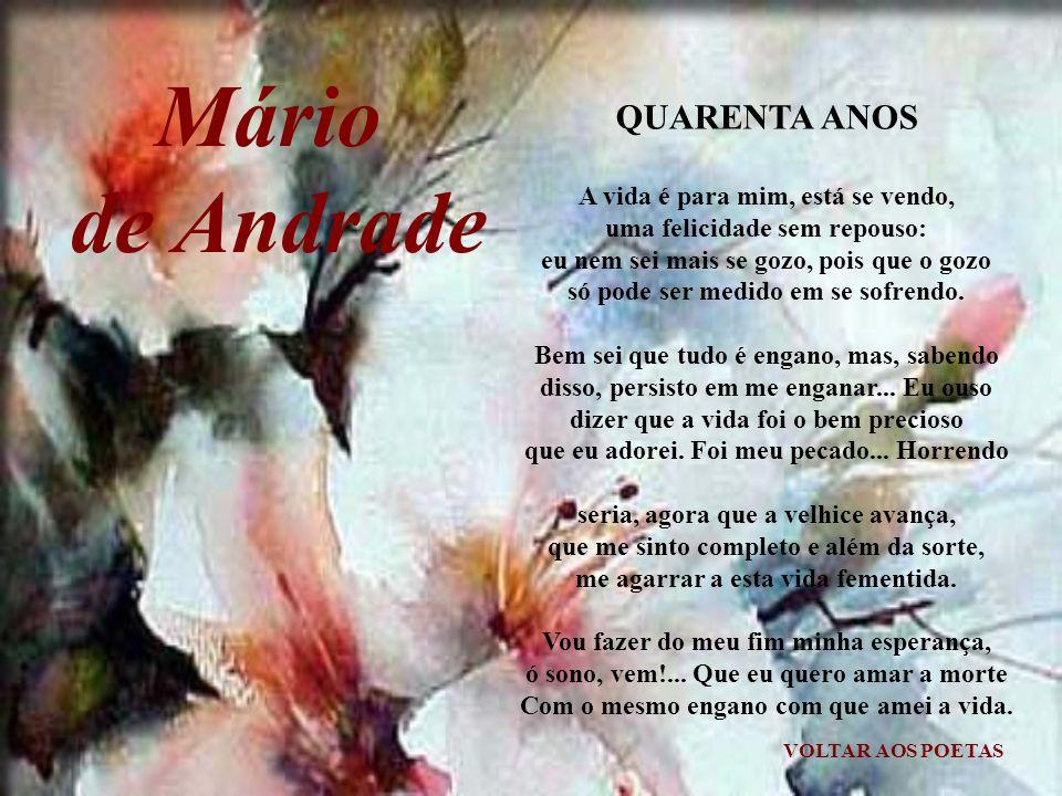 Mário de Andrade QUARENTA ANOS