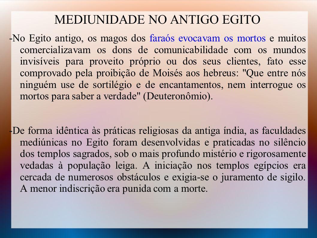 MEDIUNIDADE NO ANTIGO EGITO
