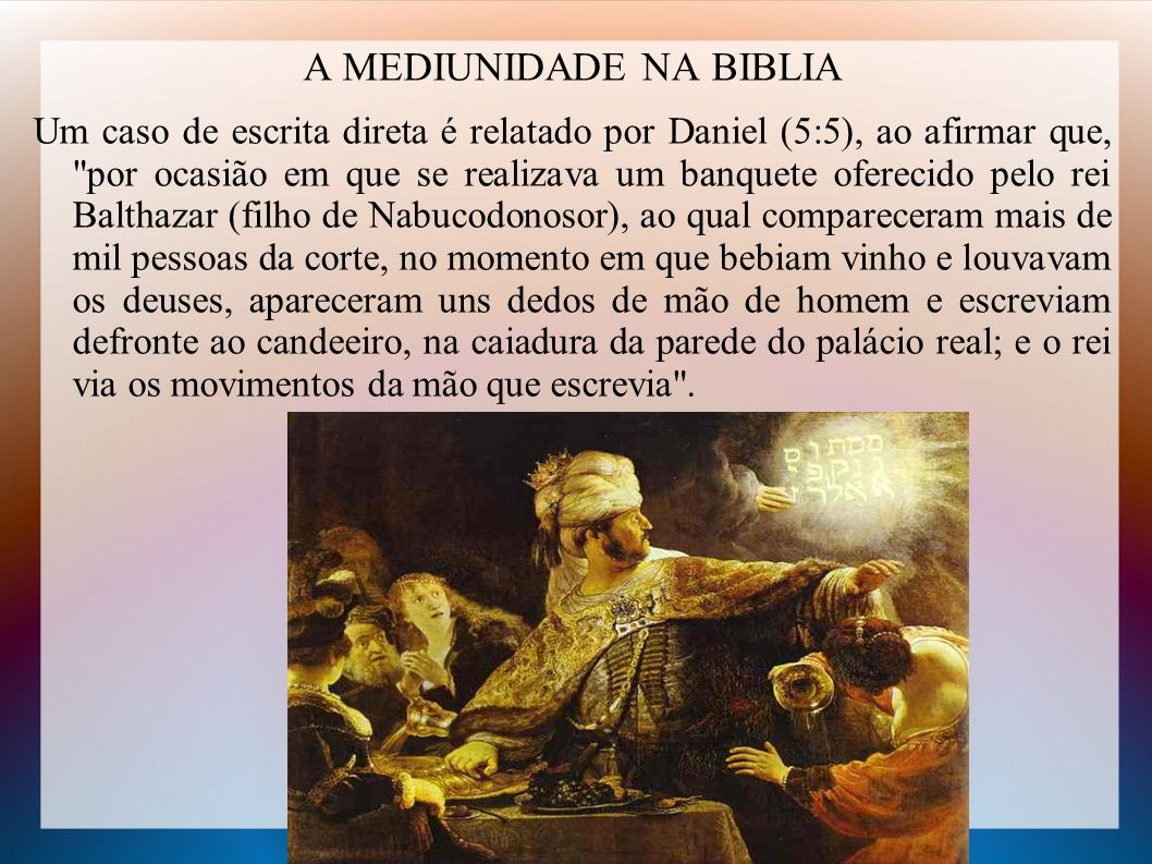 A MEDIUNIDADE NA BIBLIA