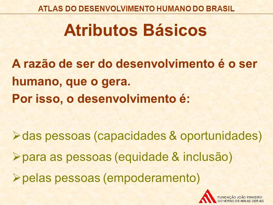 Atributos Básicos A razão de ser do desenvolvimento é o ser