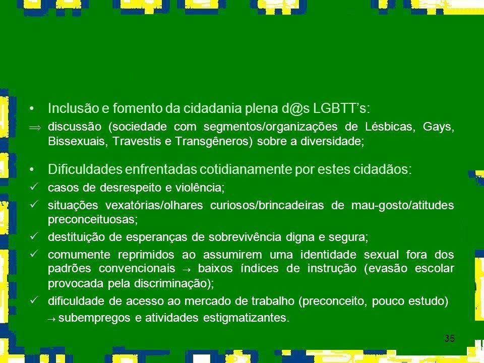 Inclusão e fomento da cidadania plena d@s LGBTT's: