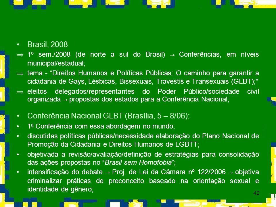 Conferência Nacional GLBT (Brasília, 5 – 8/06):