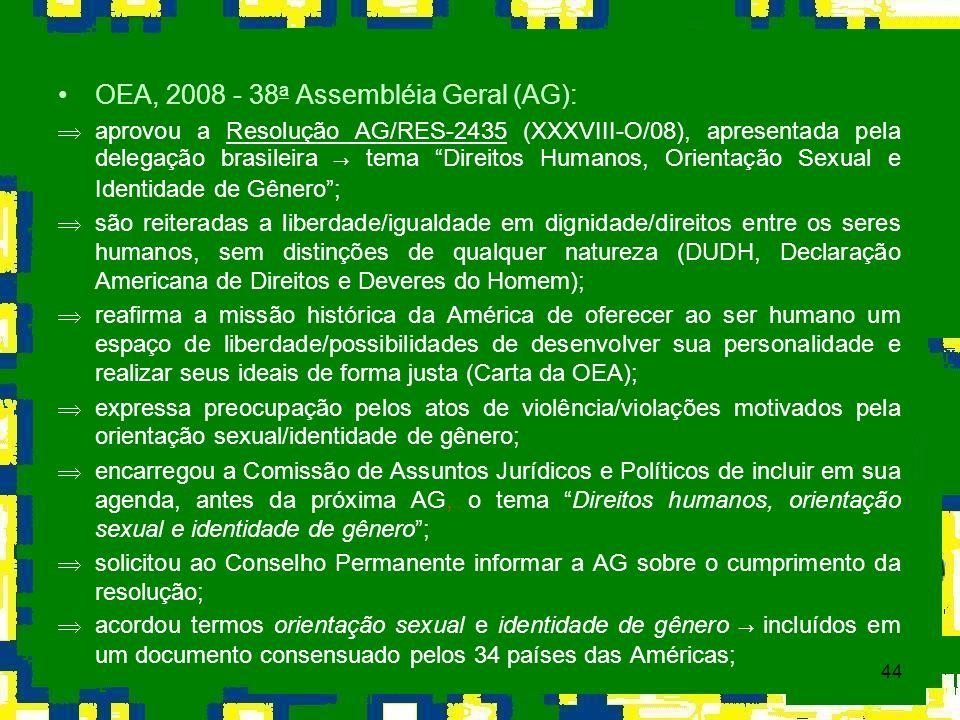 OEA, 2008 - 38a Assembléia Geral (AG):