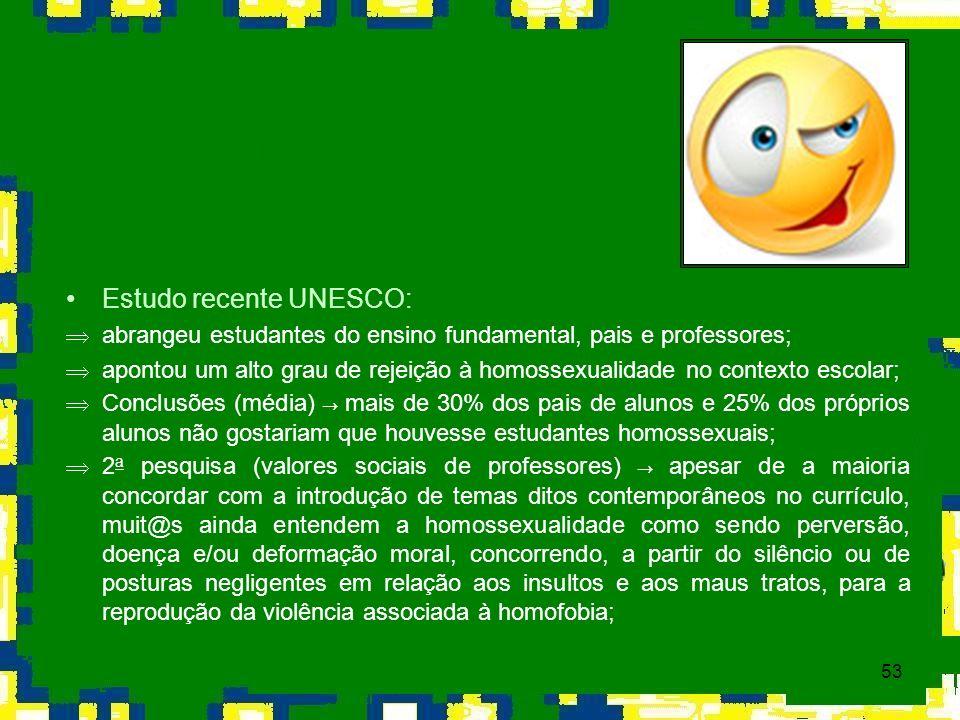 Estudo recente UNESCO: