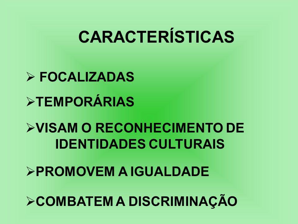 CARACTERÍSTICAS FOCALIZADAS TEMPORÁRIAS