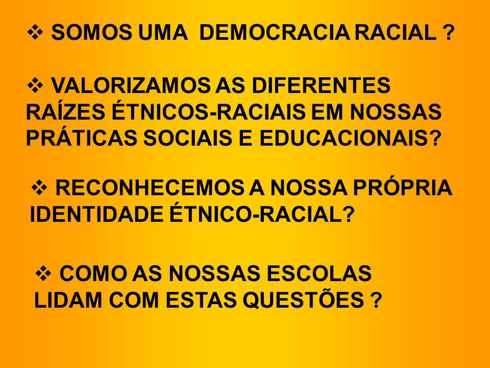 SOMOS UMA DEMOCRACIA RACIAL