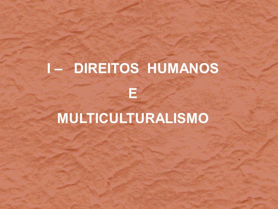 I – DIREITOS HUMANOS E MULTICULTURALISMO