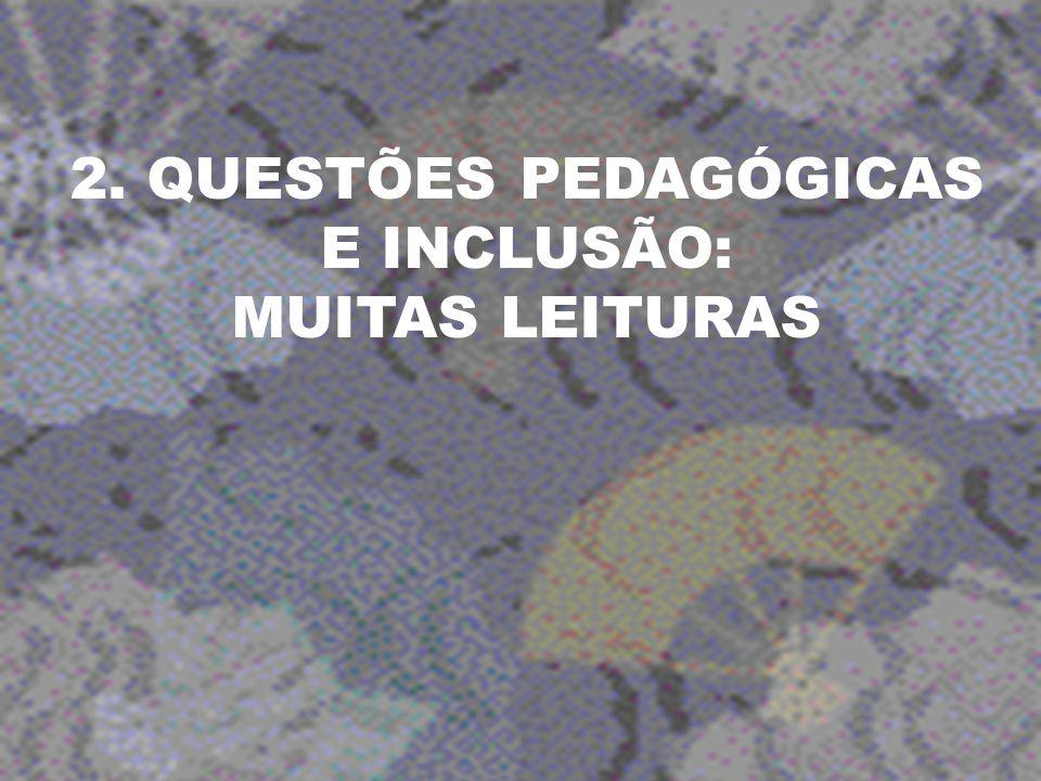 2. QUESTÕES PEDAGÓGICAS E INCLUSÃO: