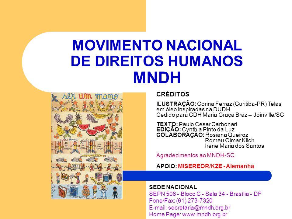 MOVIMENTO NACIONAL DE DIREITOS HUMANOS MNDH