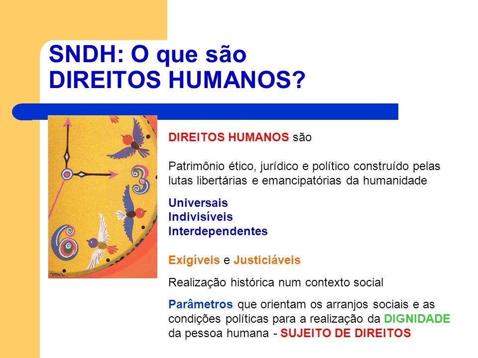 SNDH: O que são DIREITOS HUMANOS
