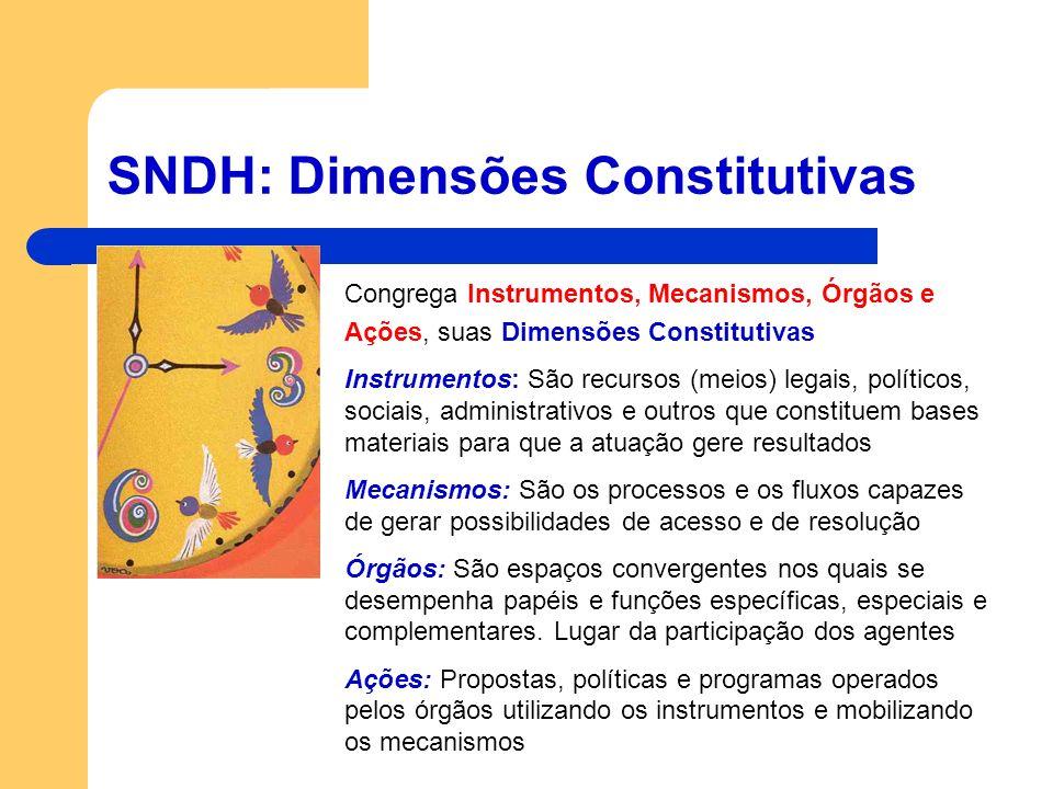SNDH: Dimensões Constitutivas