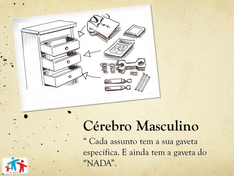 Cérebro Masculino Cada assunto tem a sua gaveta específica. E ainda tem a gaveta do NADA .