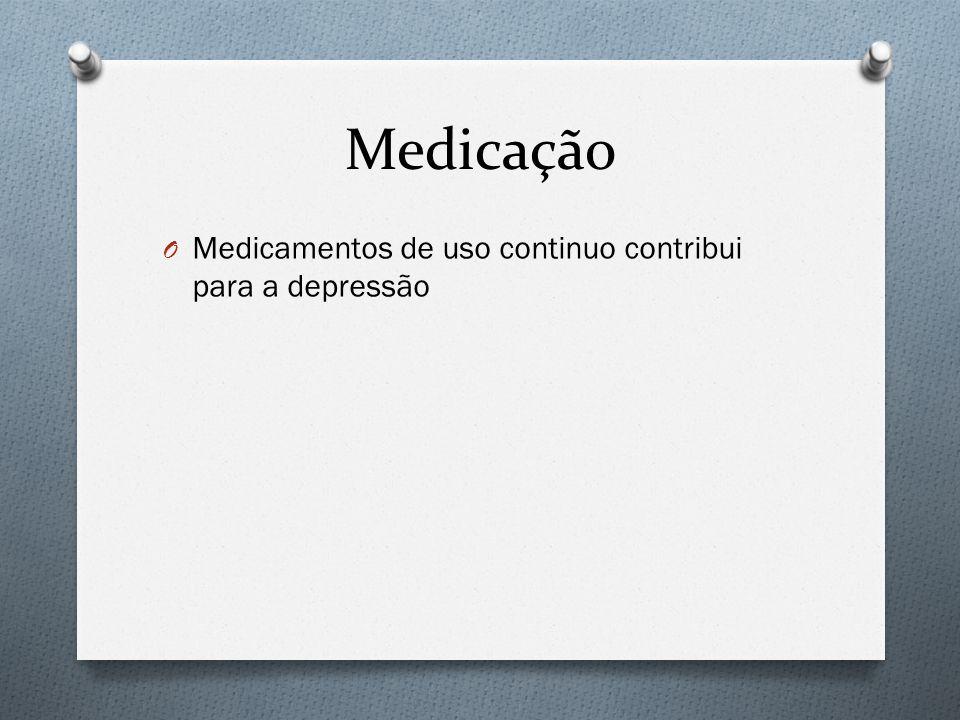 Medicação Medicamentos de uso continuo contribui para a depressão