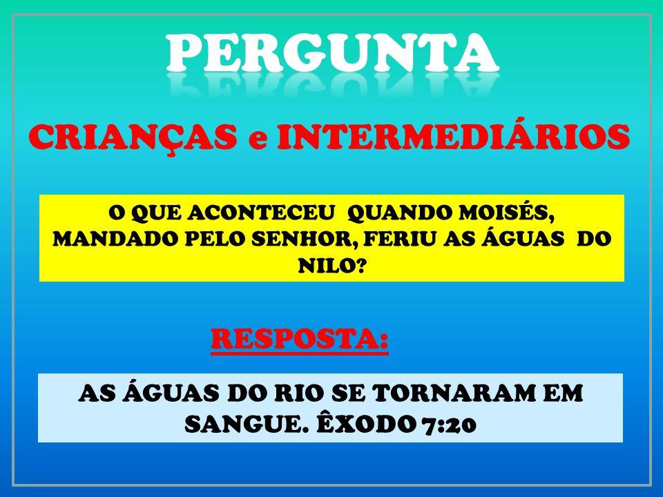 PERGUNTA CRIANÇAS e INTERMEDIÁRIOS RESPOSTA: