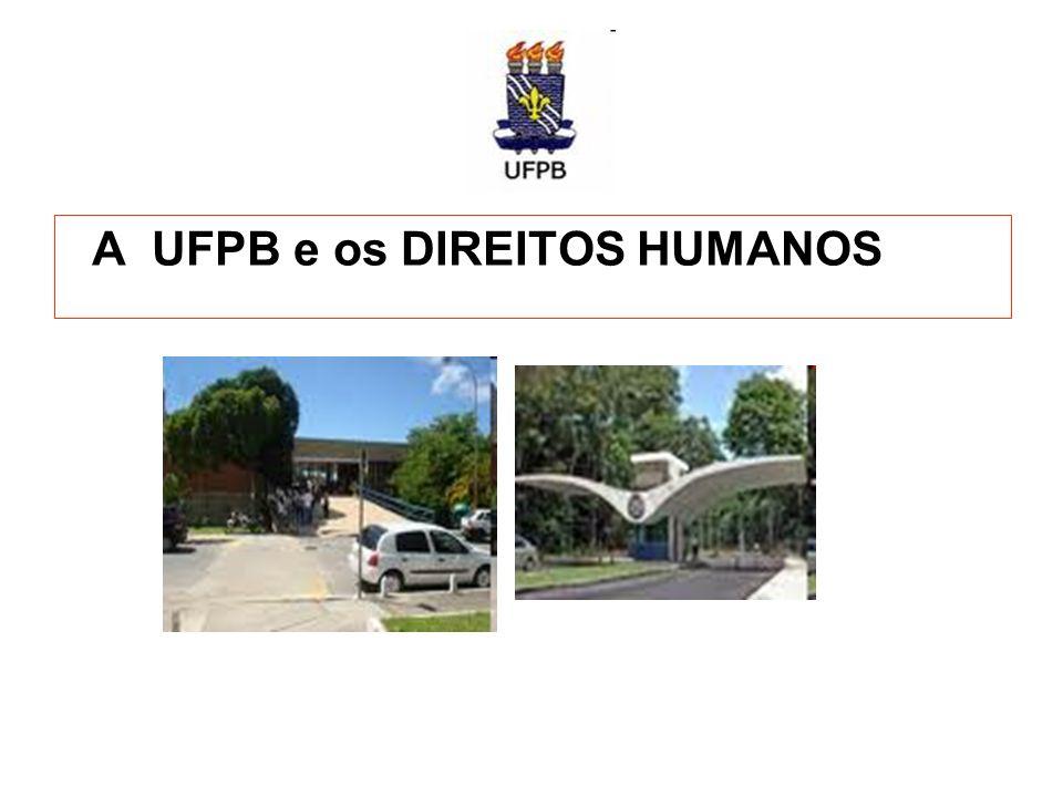 A UFPB e os DIREITOS HUMANOS