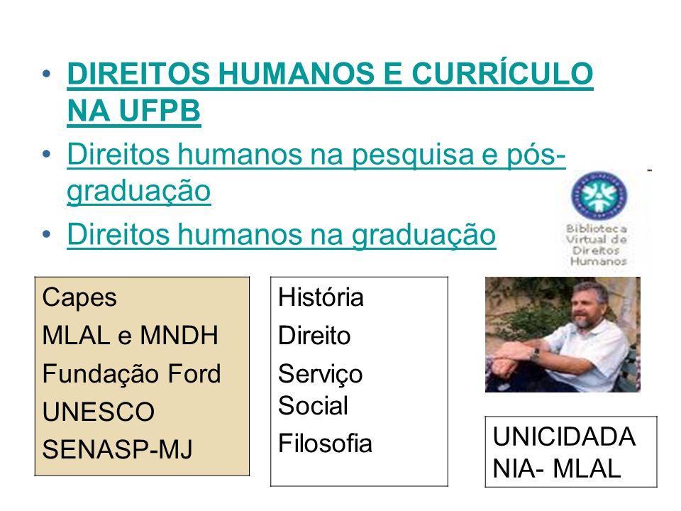 DIREITOS HUMANOS E CURRÍCULO NA UFPB