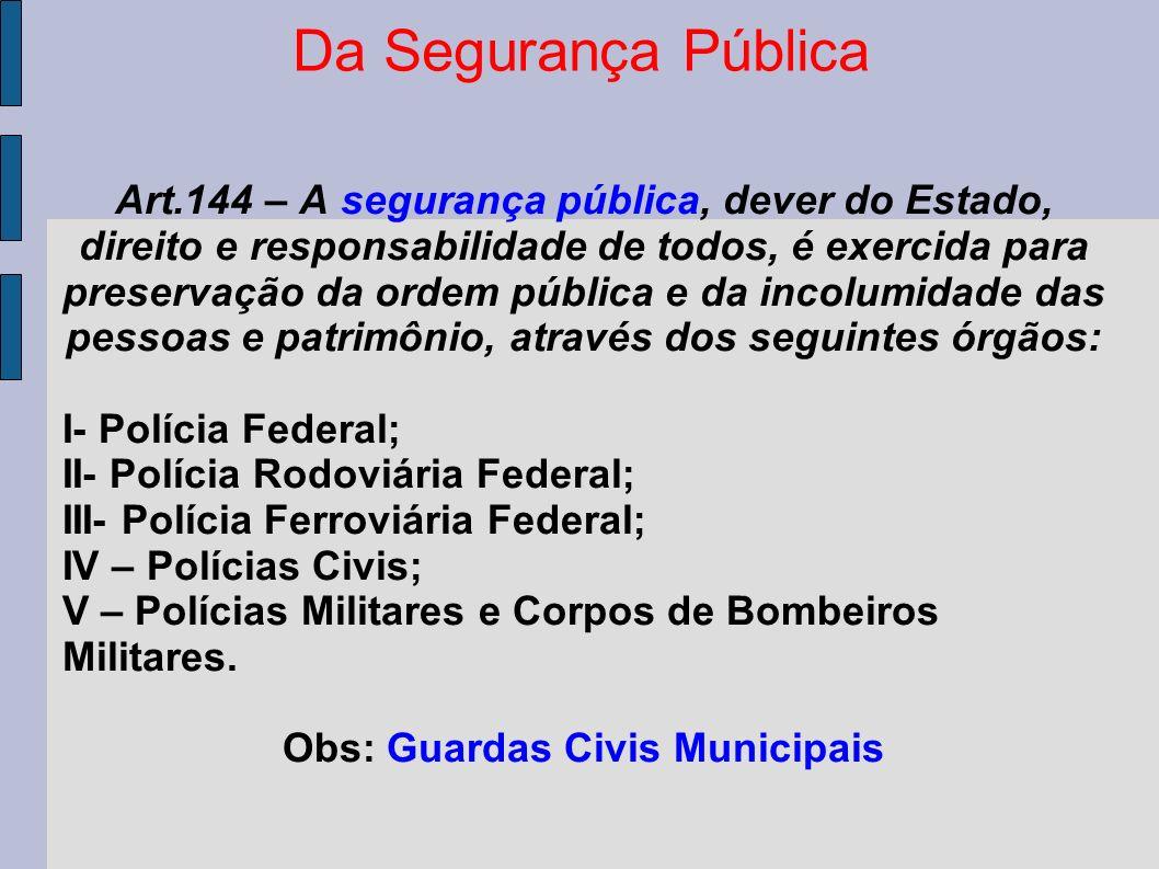 Obs: Guardas Civis Municipais