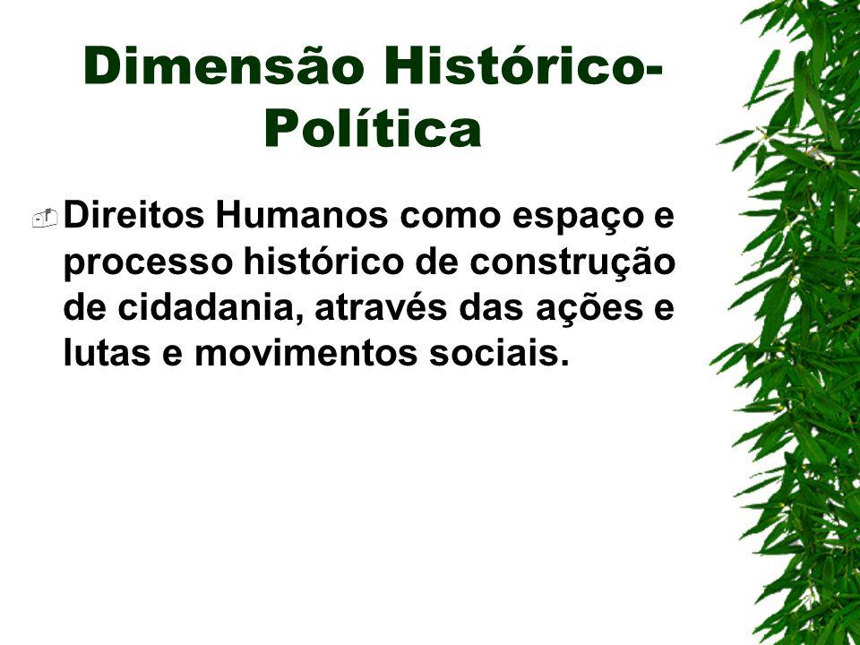 Dimensão Histórico-Política