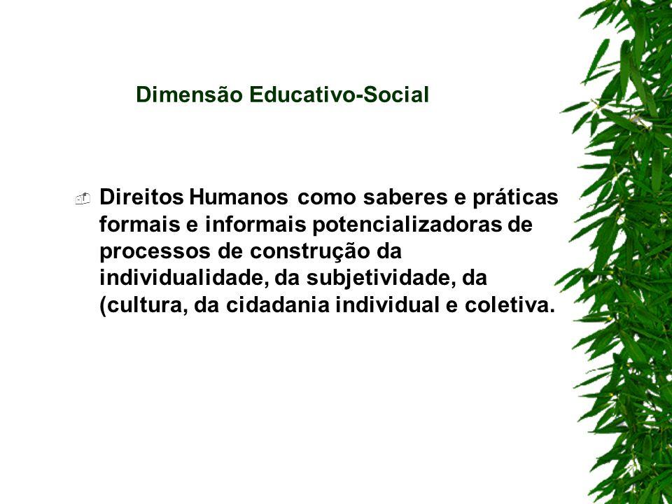 Dimensão Educativo-Social