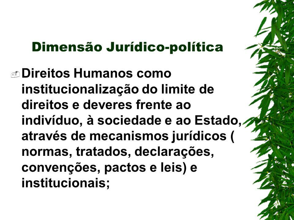 Dimensão Jurídico-política