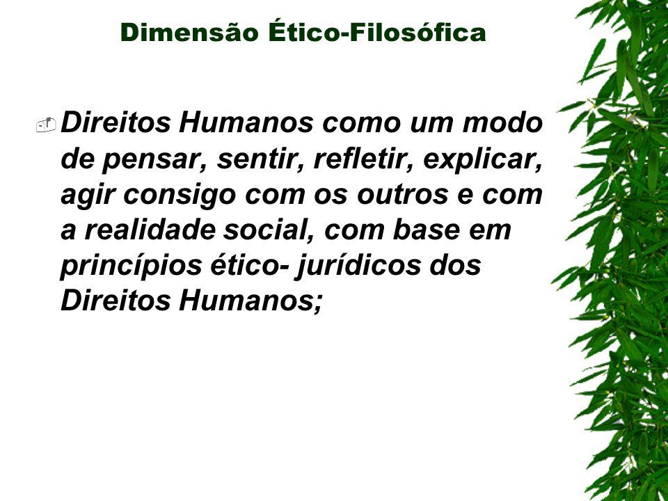 Dimensão Ético-Filosófica