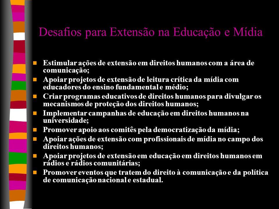 Desafios para Extensão na Educação e Mídia