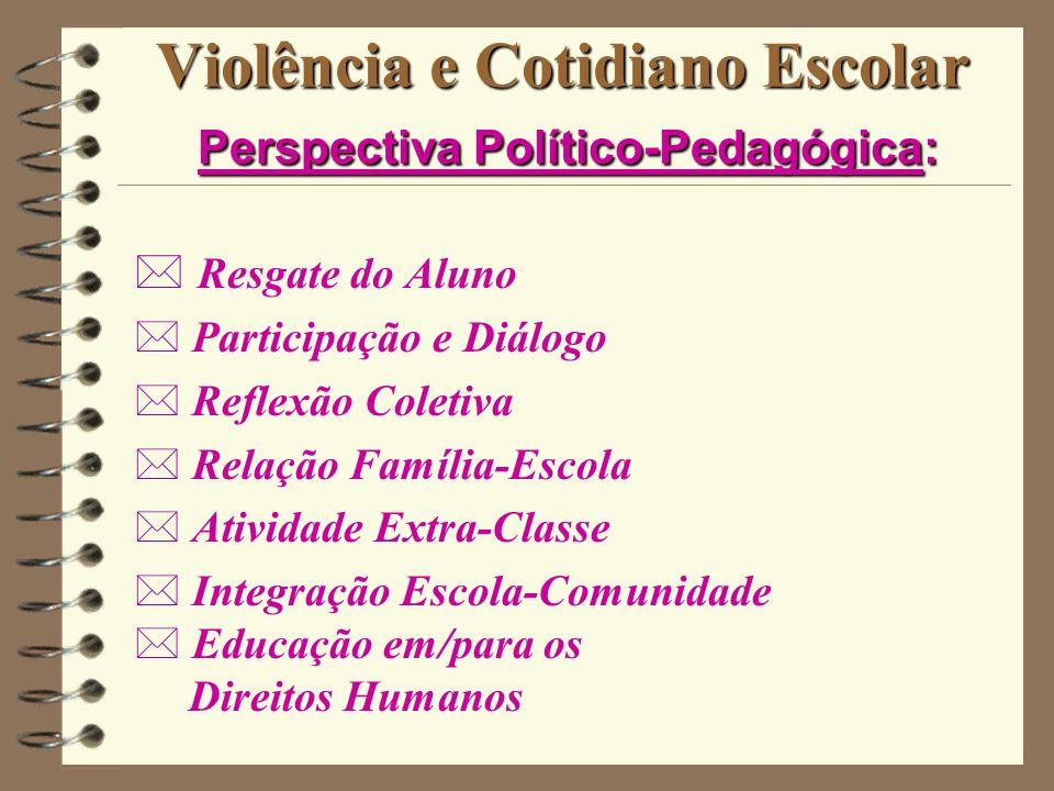 Violência e Cotidiano Escolar Perspectiva Político-Pedagógica: