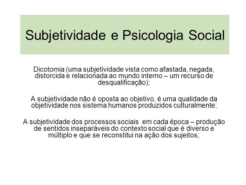 Subjetividade e Psicologia Social