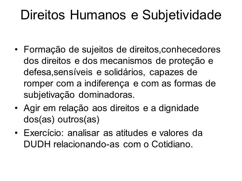 Direitos Humanos e Subjetividade