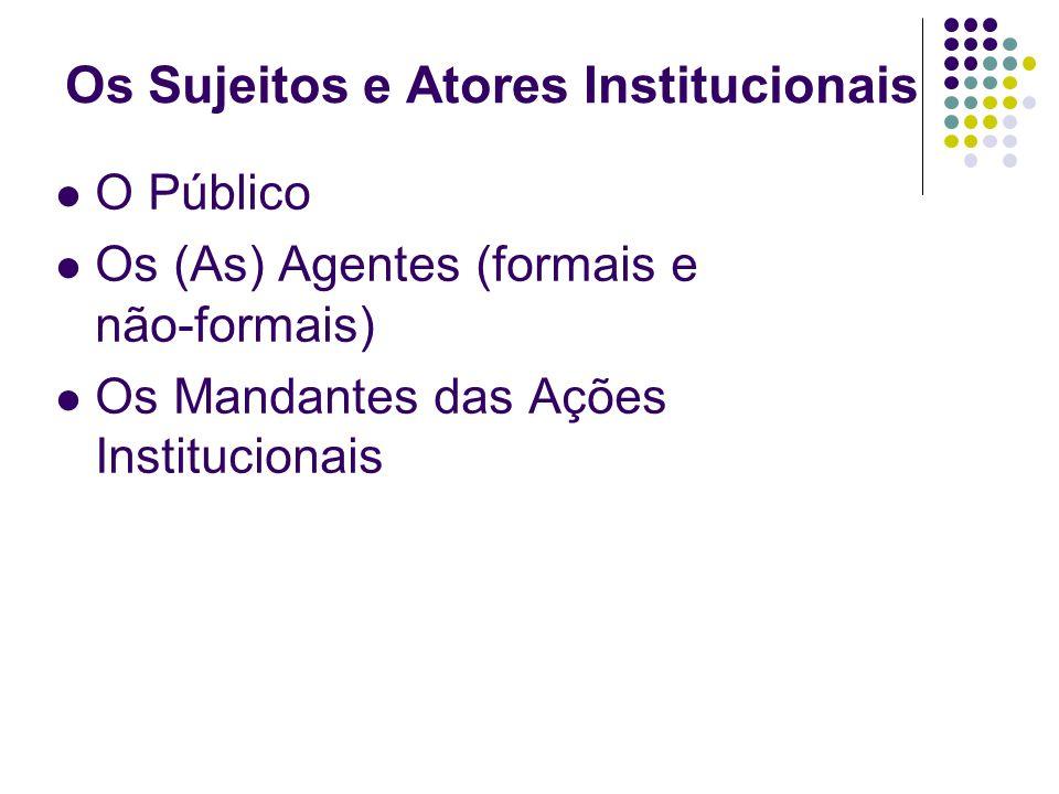 Os Sujeitos e Atores Institucionais