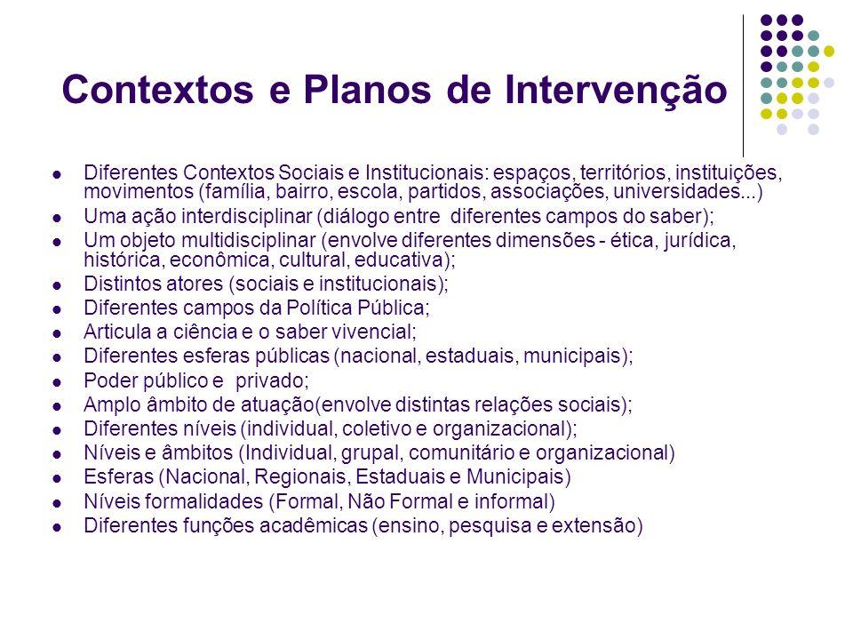 Contextos e Planos de Intervenção