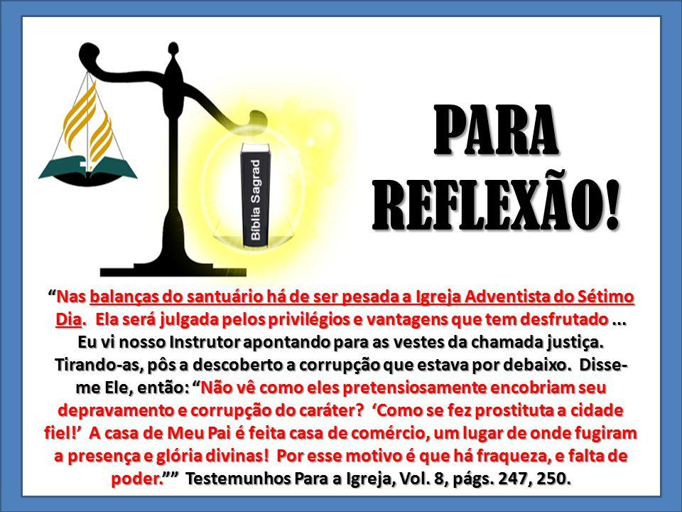 PARA REFLEXÃO!