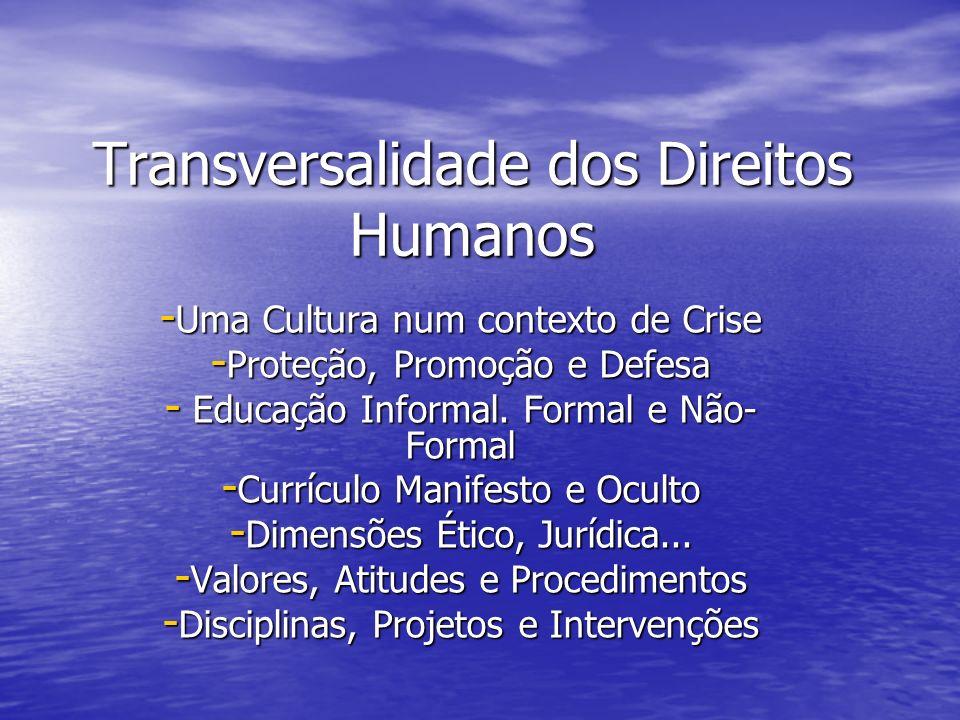 Transversalidade dos Direitos Humanos